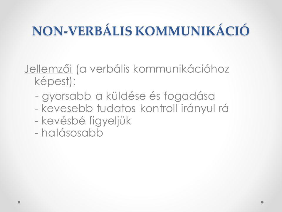 NON-VERBÁLIS KOMMUNIKÁCIÓ