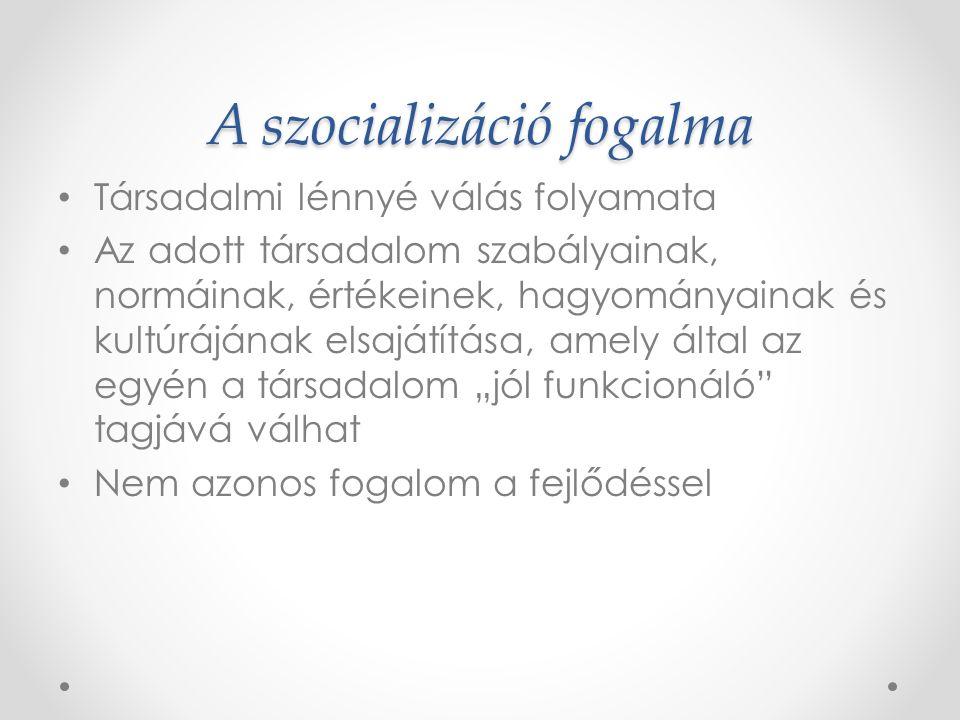 A szocializáció fogalma