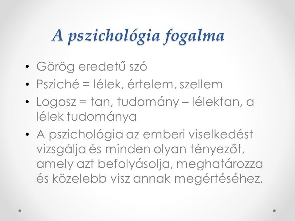 A pszichológia fogalma