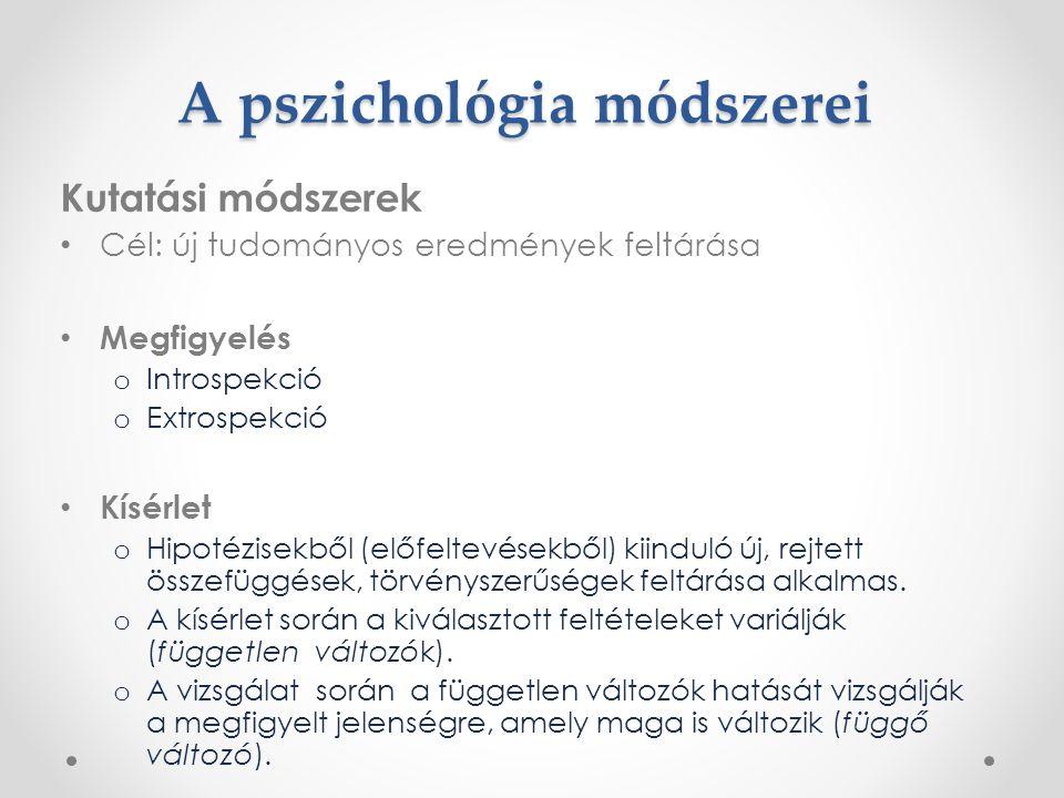 A pszichológia módszerei