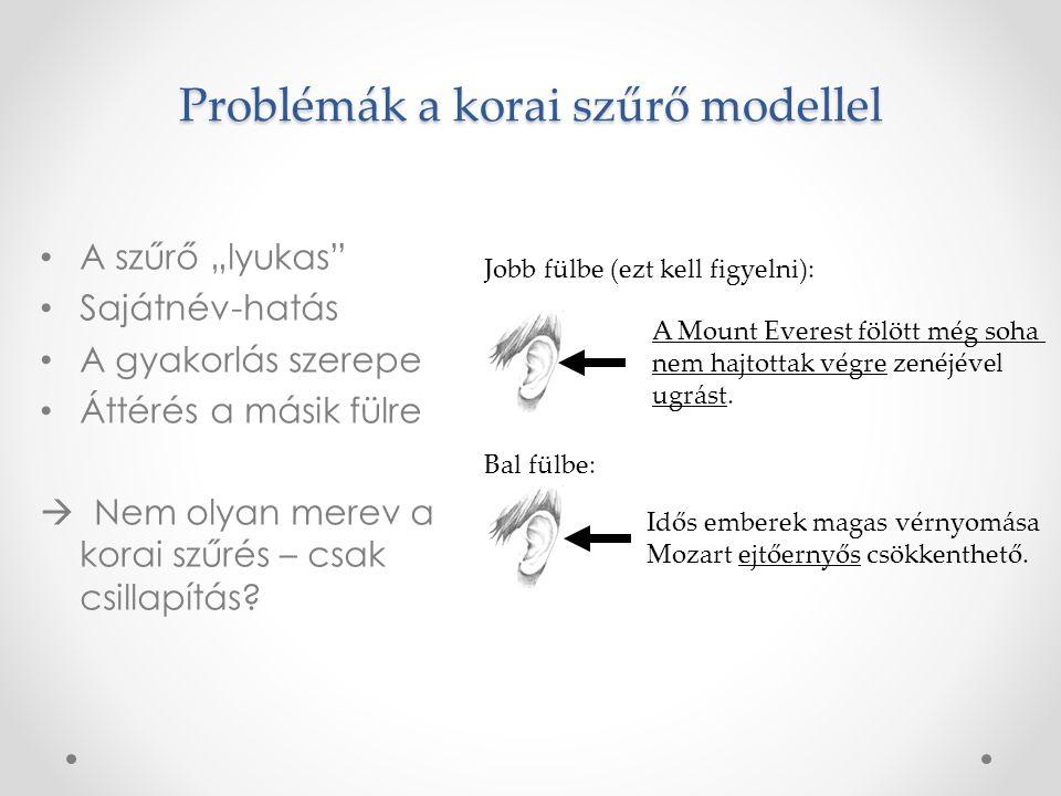 Problémák a korai szűrő modellel