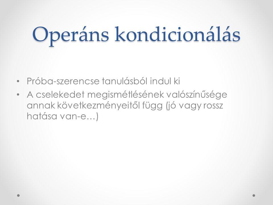 Operáns kondicionálás