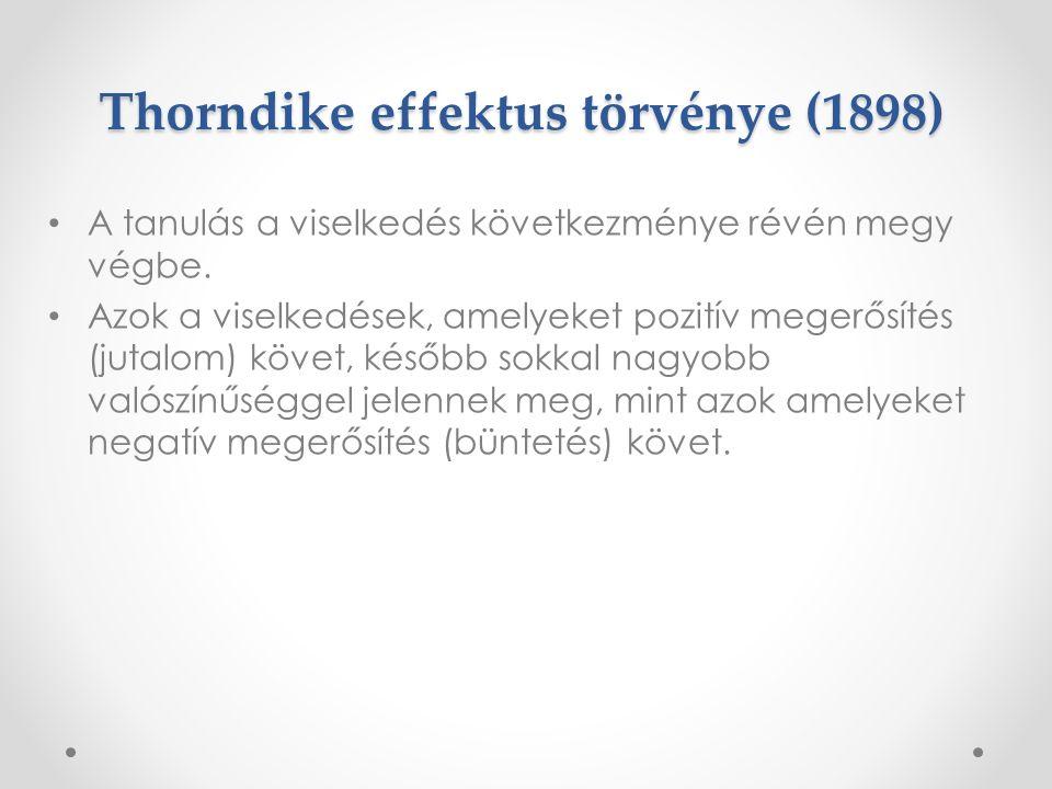 Thorndike effektus törvénye (1898)