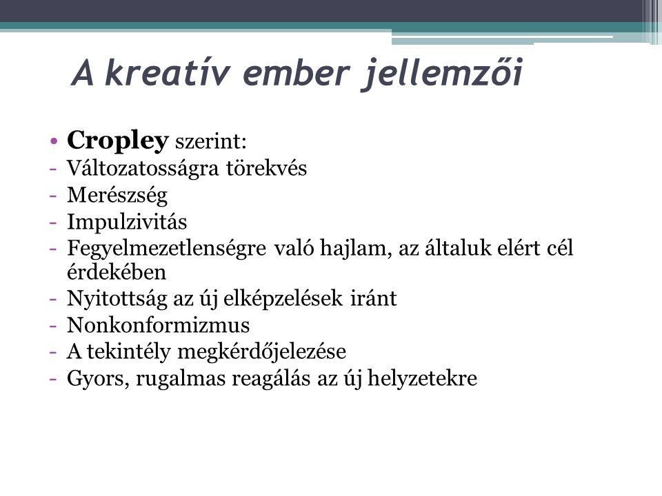 A kreatív ember jellemzői