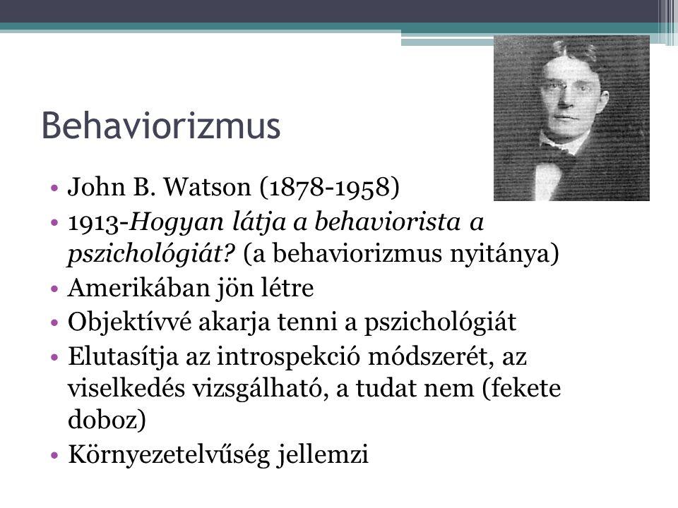 Behaviorizmus John B. Watson (1878-1958)