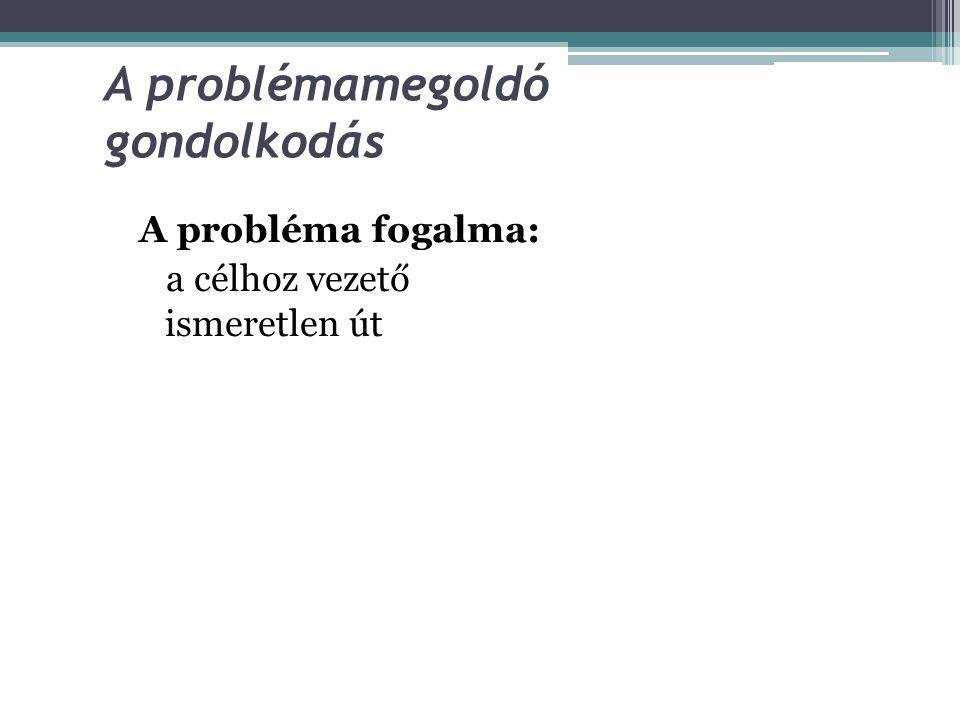 A problémamegoldó gondolkodás