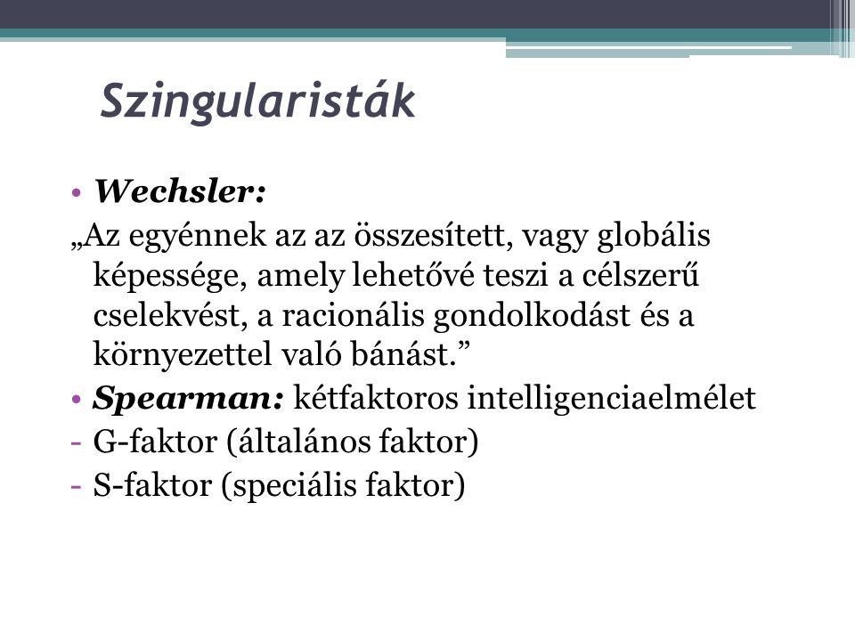 Szingularisták Wechsler: