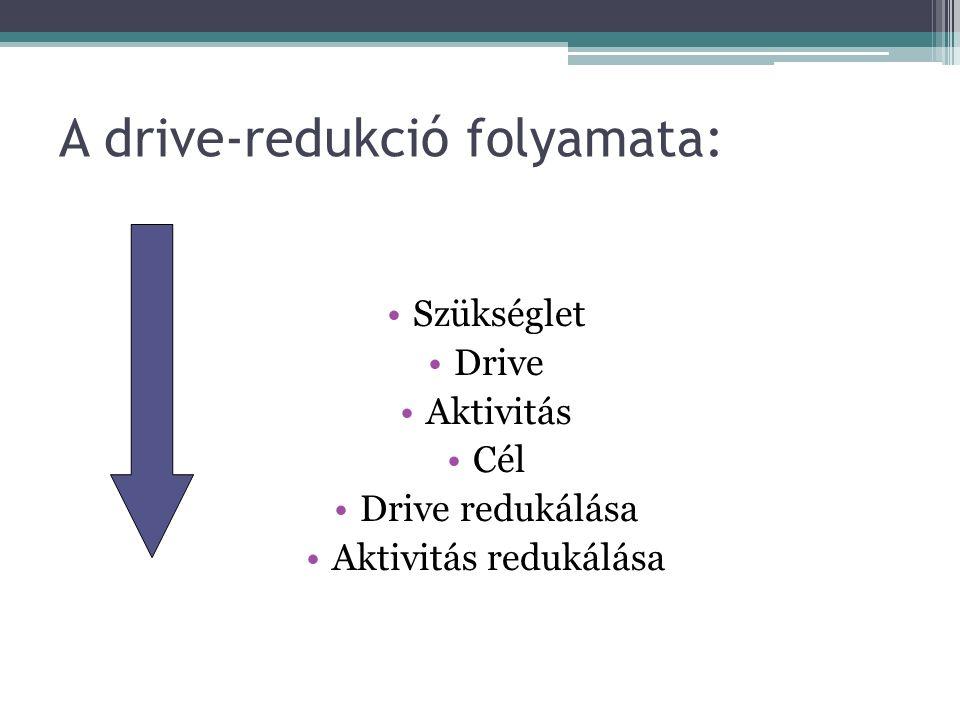 A drive-redukció folyamata: