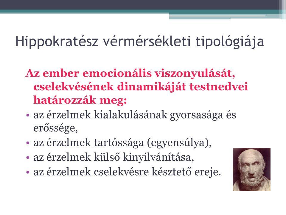 Hippokratész vérmérsékleti tipológiája