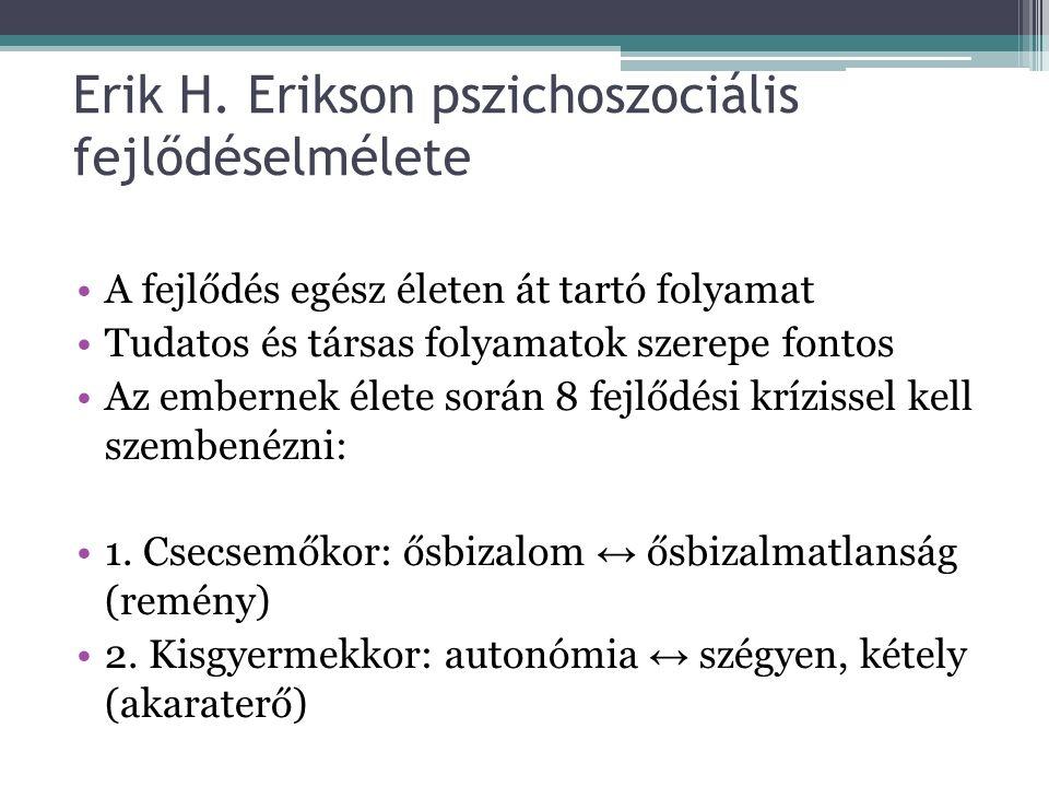 Erik H. Erikson pszichoszociális fejlődéselmélete