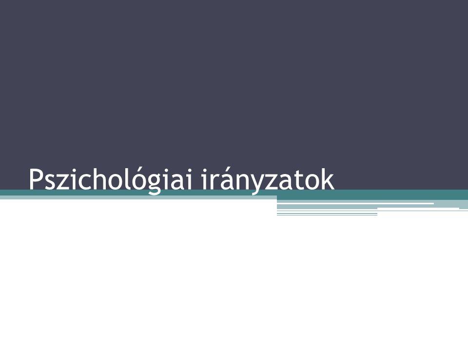 Pszichológiai irányzatok