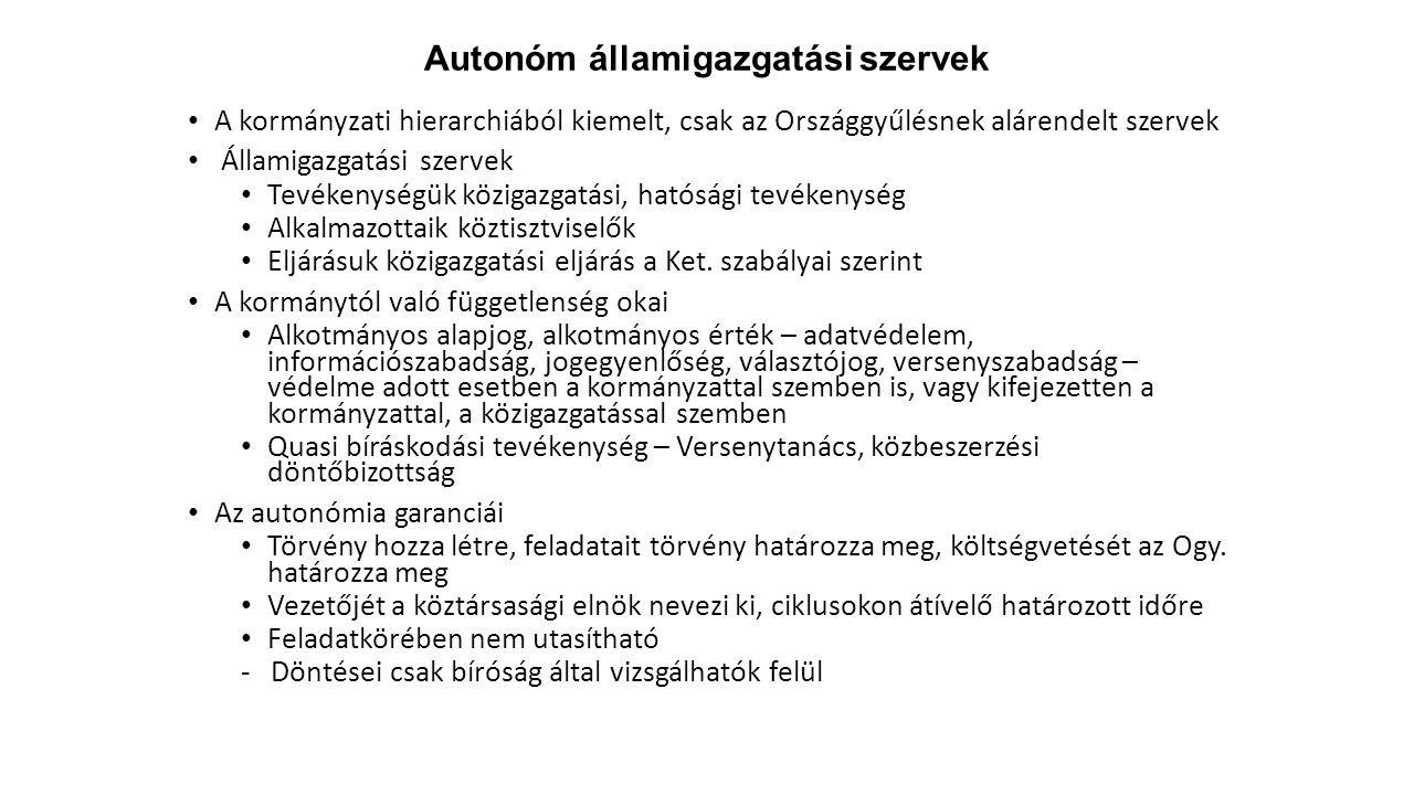 Autonóm államigazgatási szervek