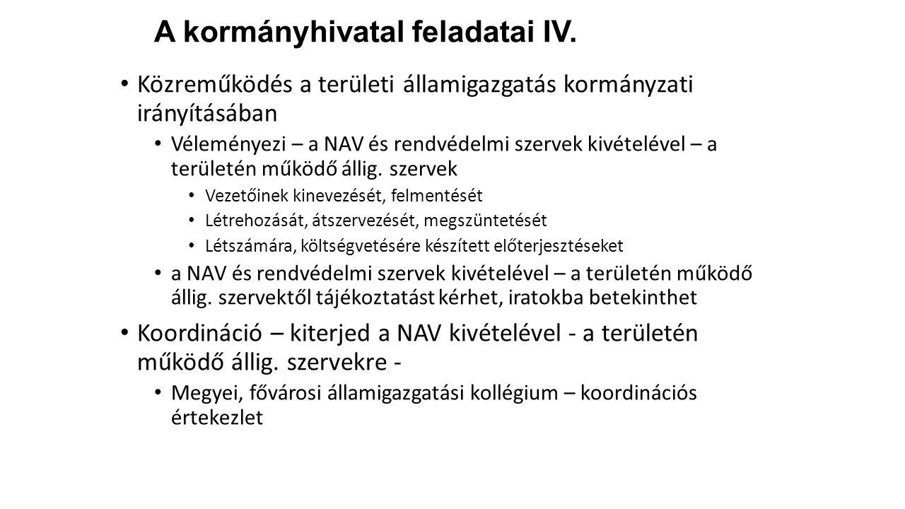 A kormányhivatal feladatai IV.