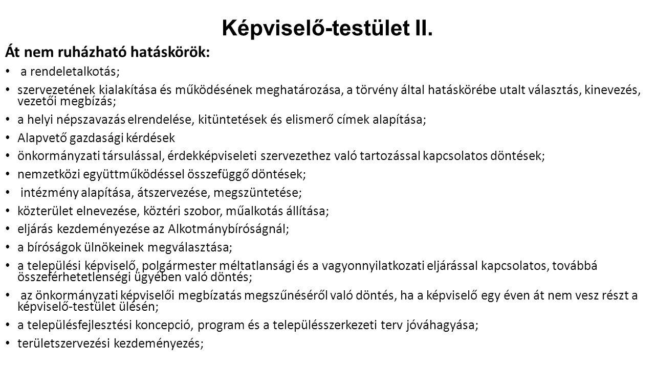 Képviselő-testület II.