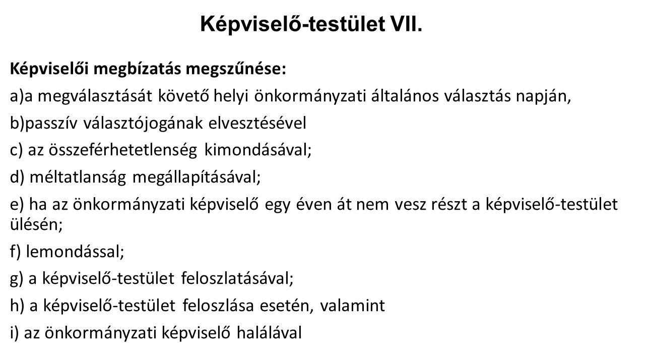 Képviselő-testület VII.