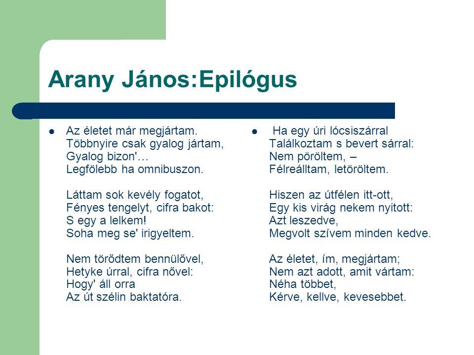 Arany János:Epilógus