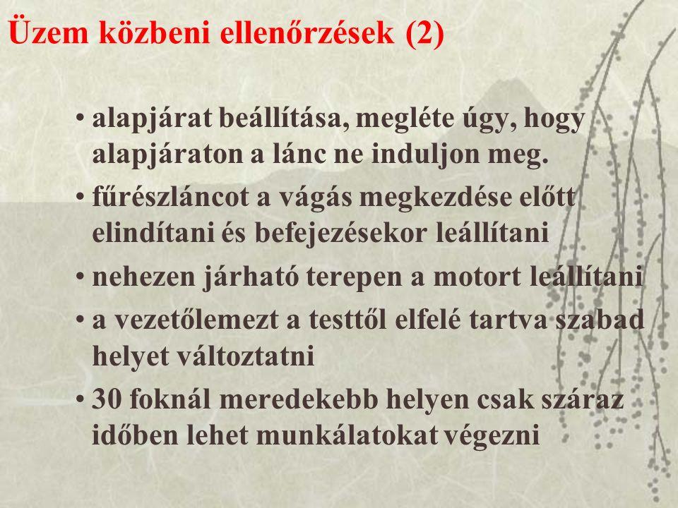 Üzem közbeni ellenőrzések (2)