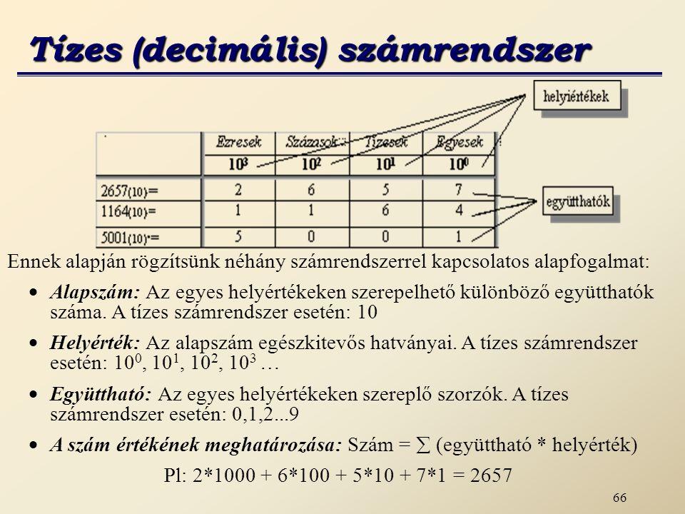 Tízes (decimális) számrendszer