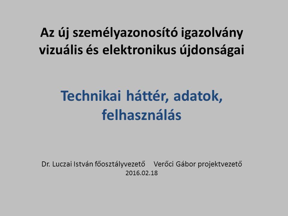 Az új személyazonosító igazolvány vizuális és elektronikus újdonságai Technikai háttér, adatok, felhasználás Dr.
