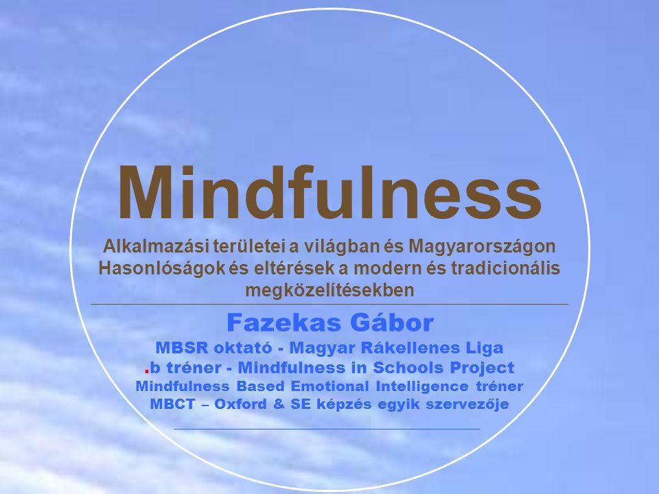 Mindfulness Alkalmazási területei a világban és Magyarországon Hasonlóságok és eltérések a modern és tradicionális megközelítésekben