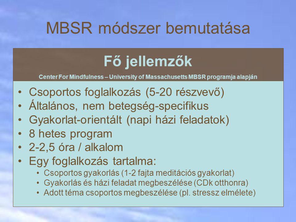 MBSR módszer bemutatása