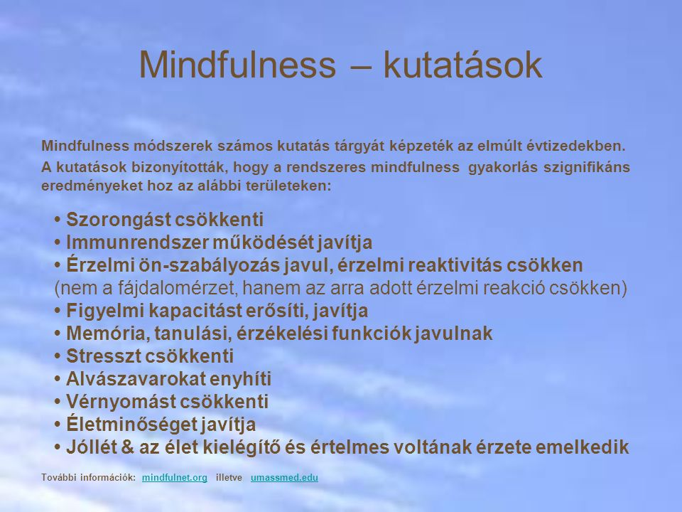 Mindfulness – kutatások