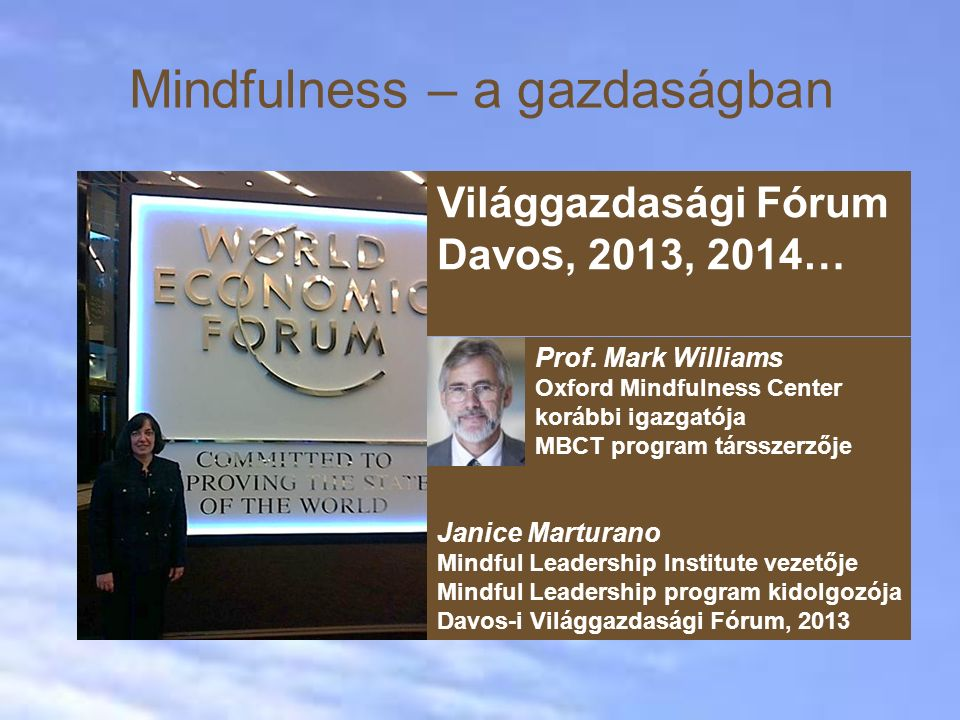 Mindfulness – a gazdaságban