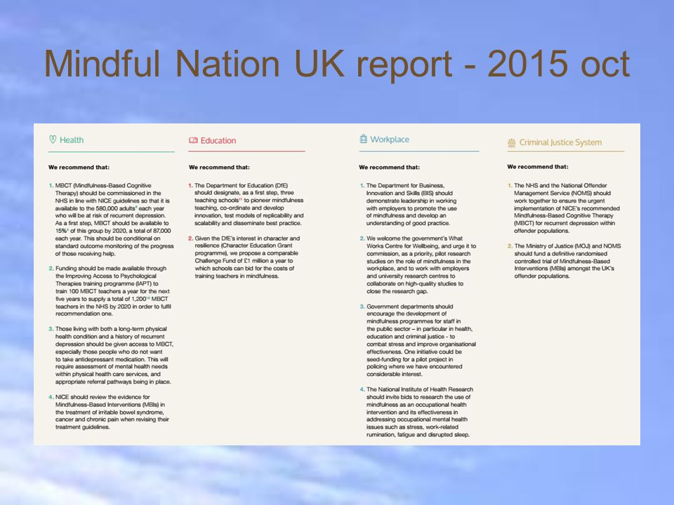 Mindful Nation UK report - 2015 oct