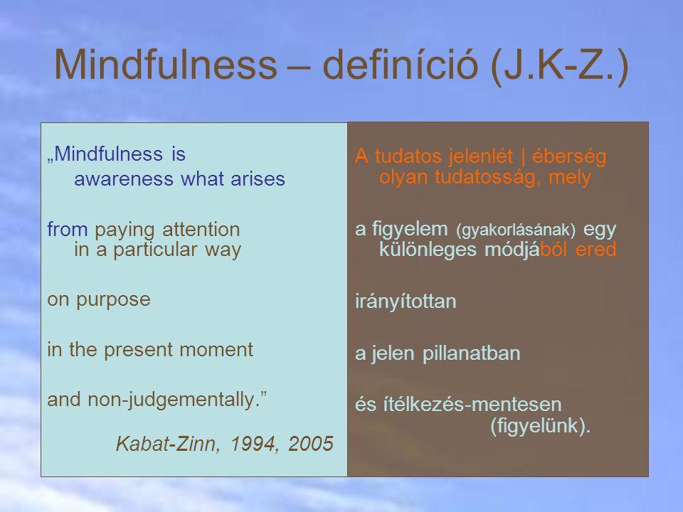 Mindfulness – definíció (J.K-Z.)