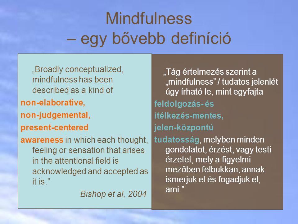 Mindfulness – egy bővebb definíció