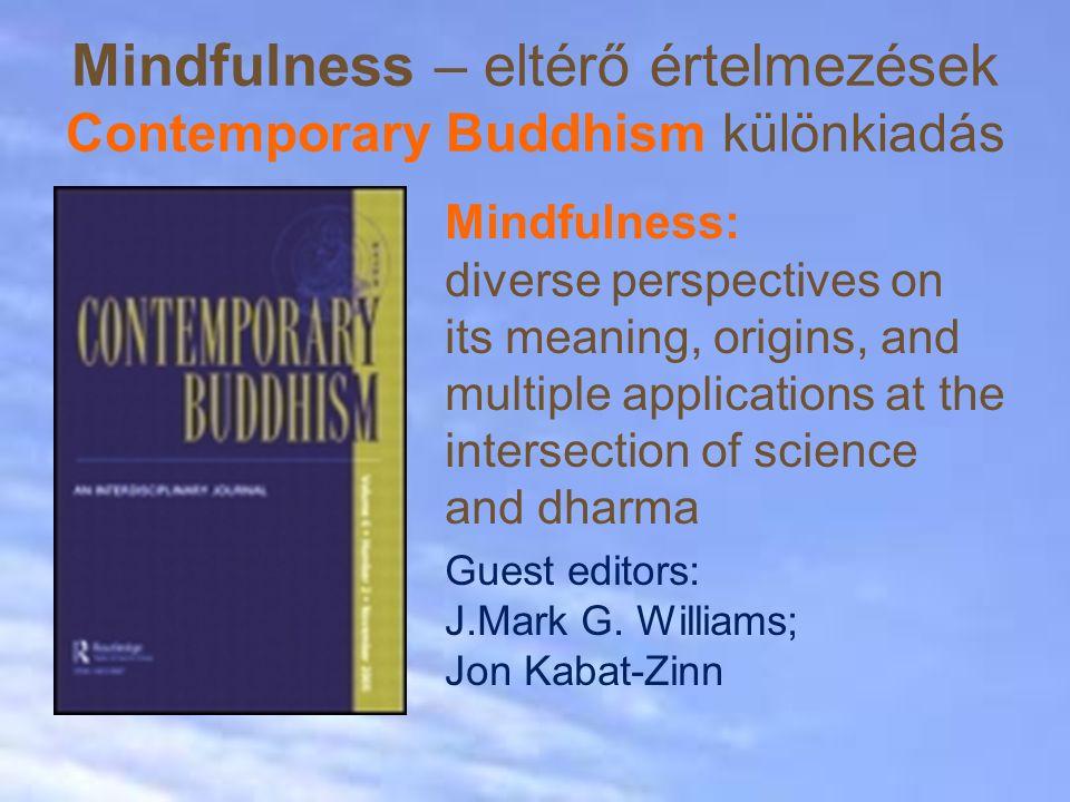 Mindfulness – eltérő értelmezések Contemporary Buddhism különkiadás