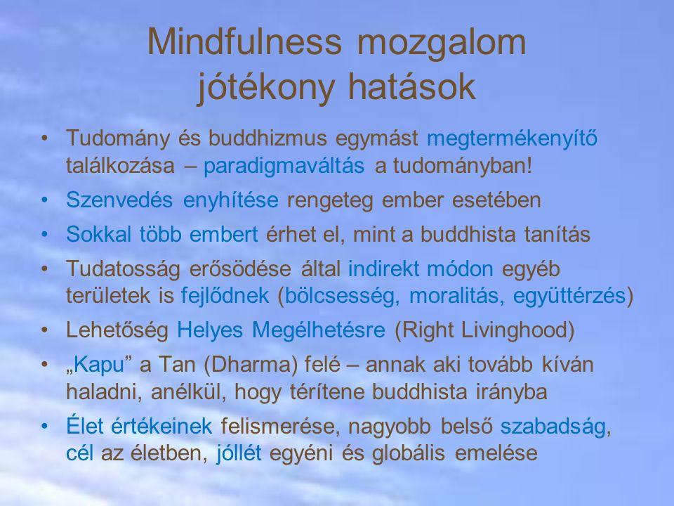 Mindfulness mozgalom jótékony hatások