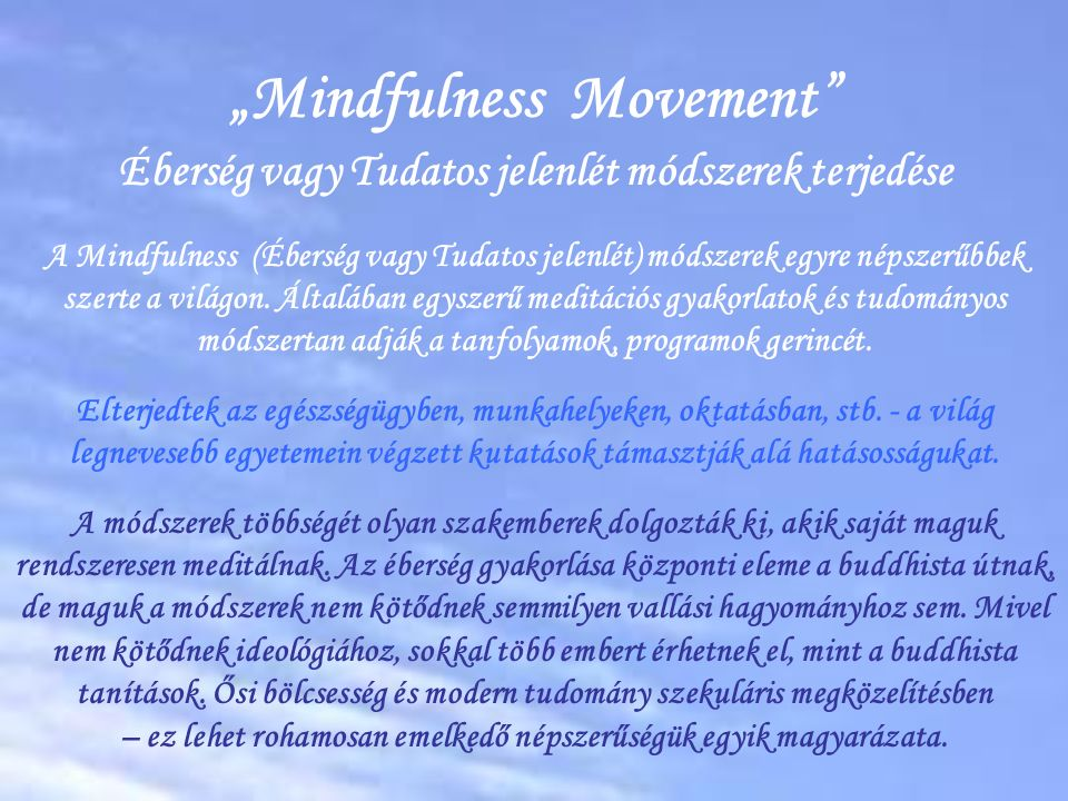 """Mindfulness Movement"