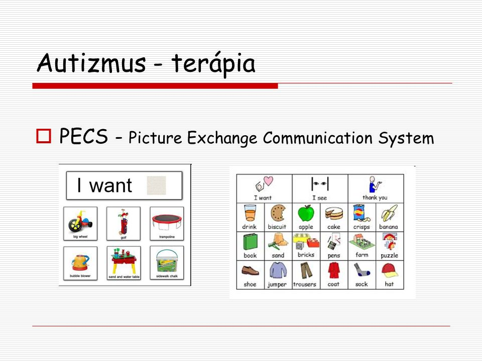 Autizmus - terápia PECS - Picture Exchange Communication System
