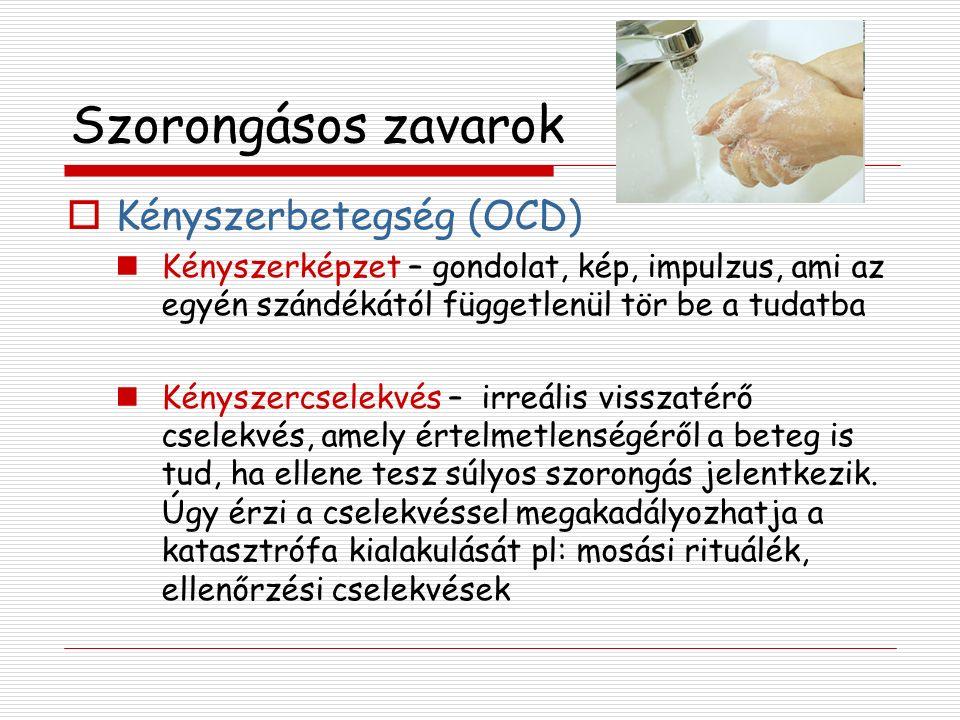 Szorongásos zavarok Kényszerbetegség (OCD)