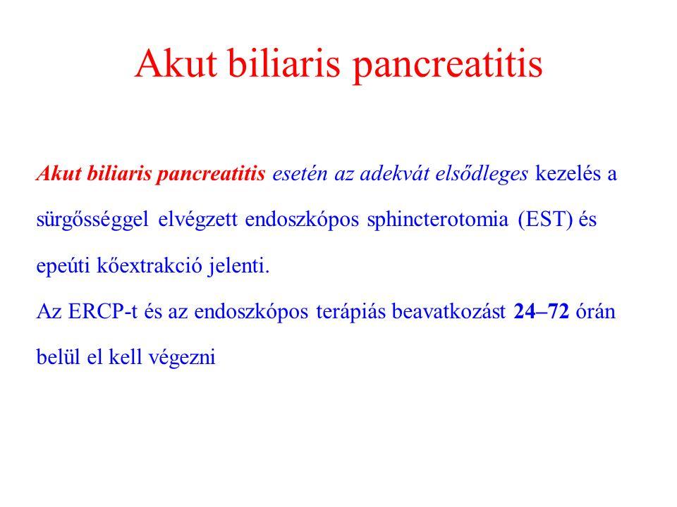 Akut biliaris pancreatitis