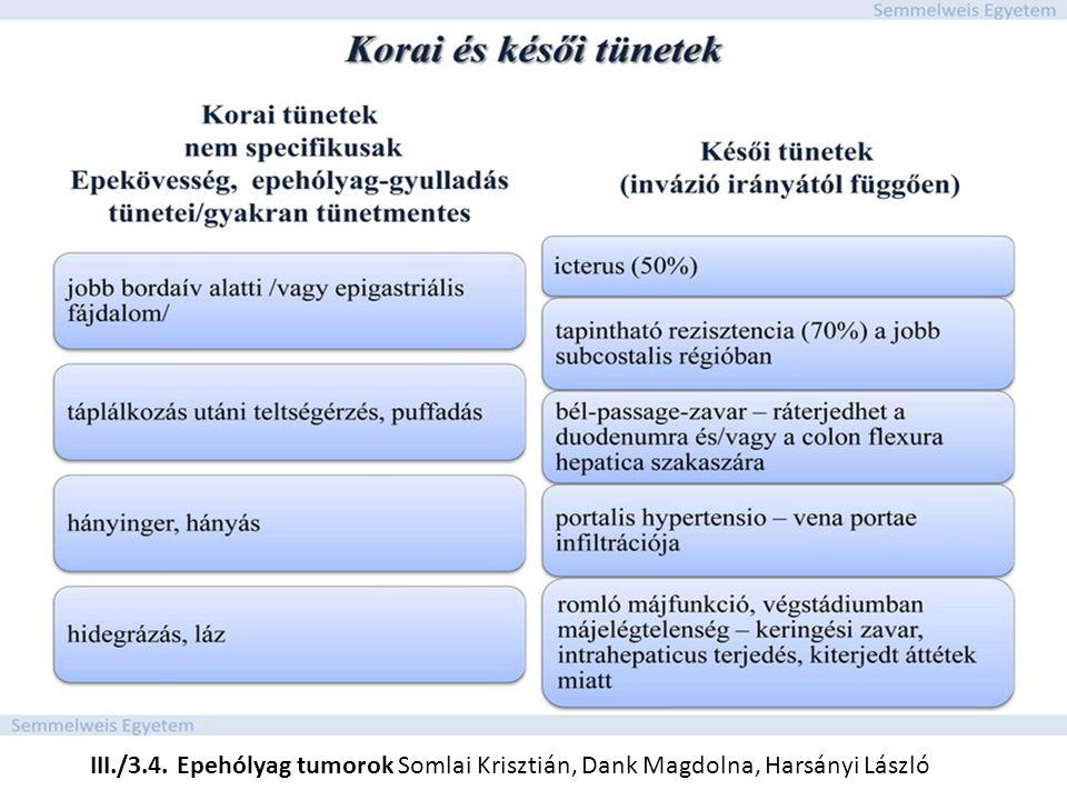 III./3.4. Epehólyag tumorok Somlai Krisztián, Dank Magdolna, Harsányi László