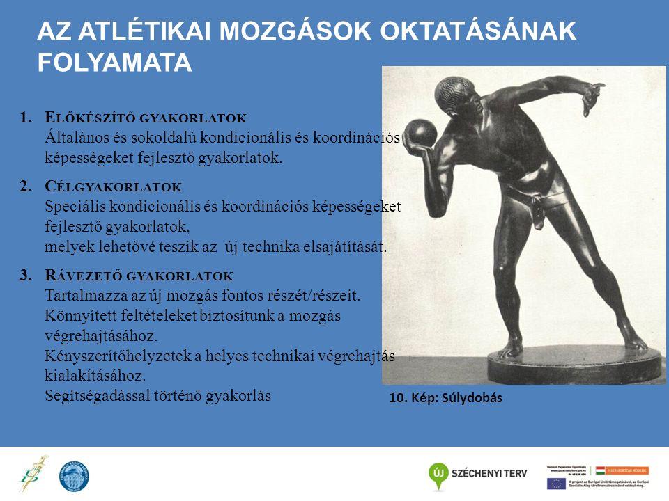 Az atlétikai mozgások oktatásának folyamata