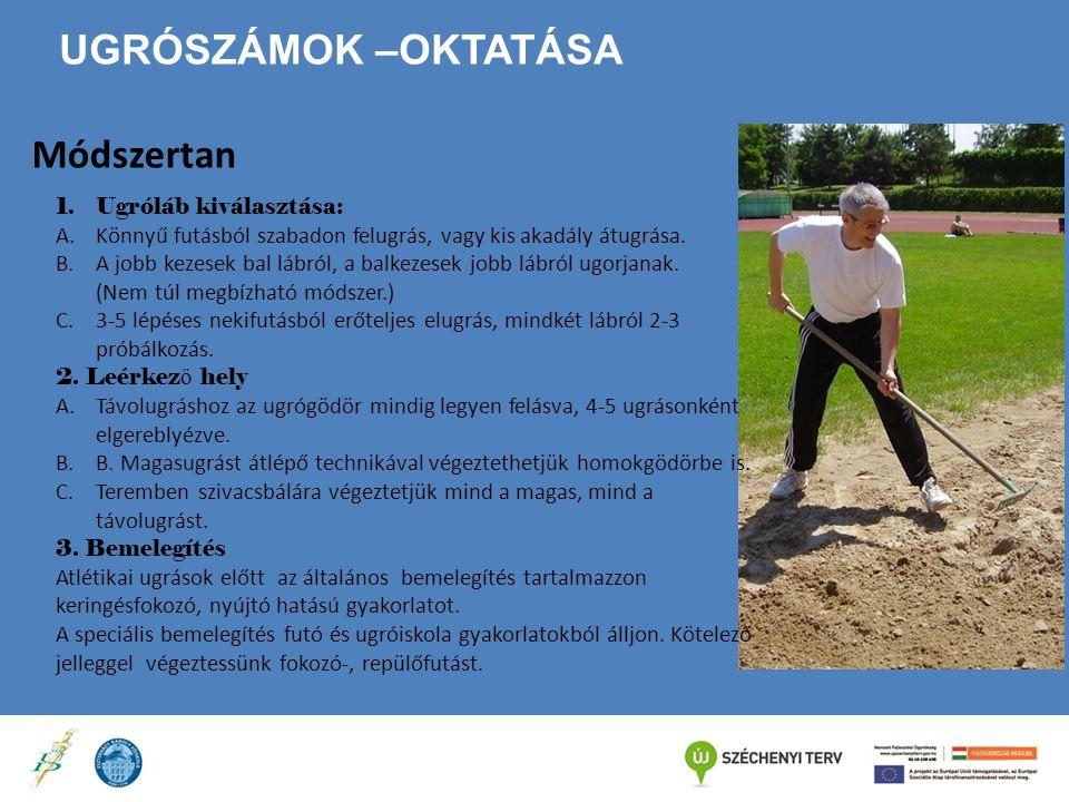 Ugrószámok –oktatása Módszertan Ugróláb kiválasztása: