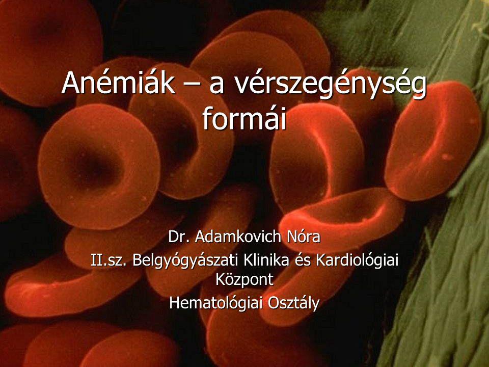 Anémiák – a vérszegénység formái