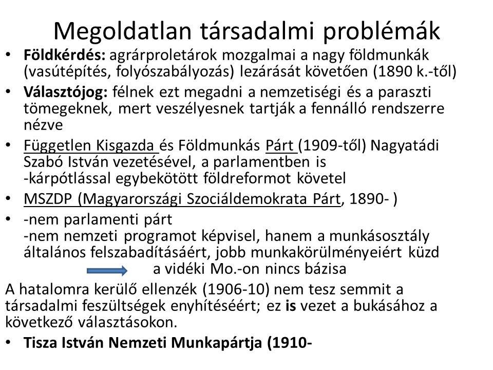 Megoldatlan társadalmi problémák