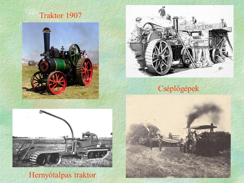 Traktor 1907 Cséplőgépek Hernyótalpas traktor