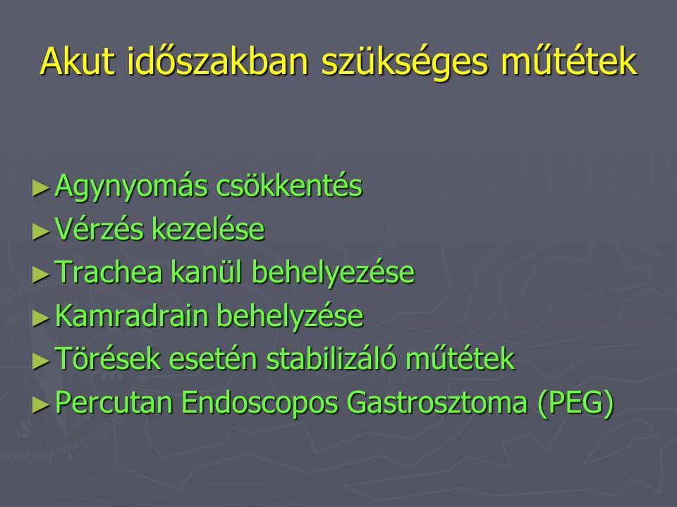 Akut időszakban szükséges műtétek