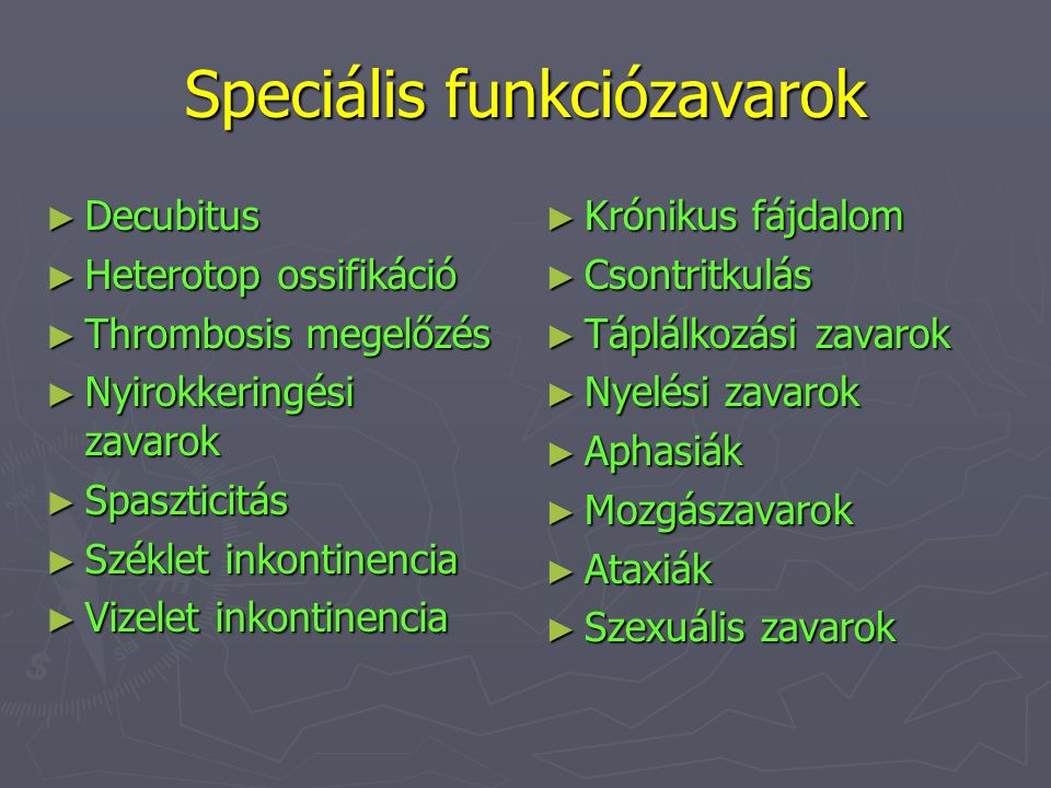 Speciális funkciózavarok