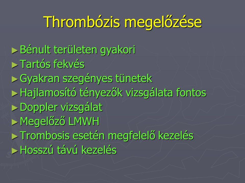 Thrombózis megelőzése