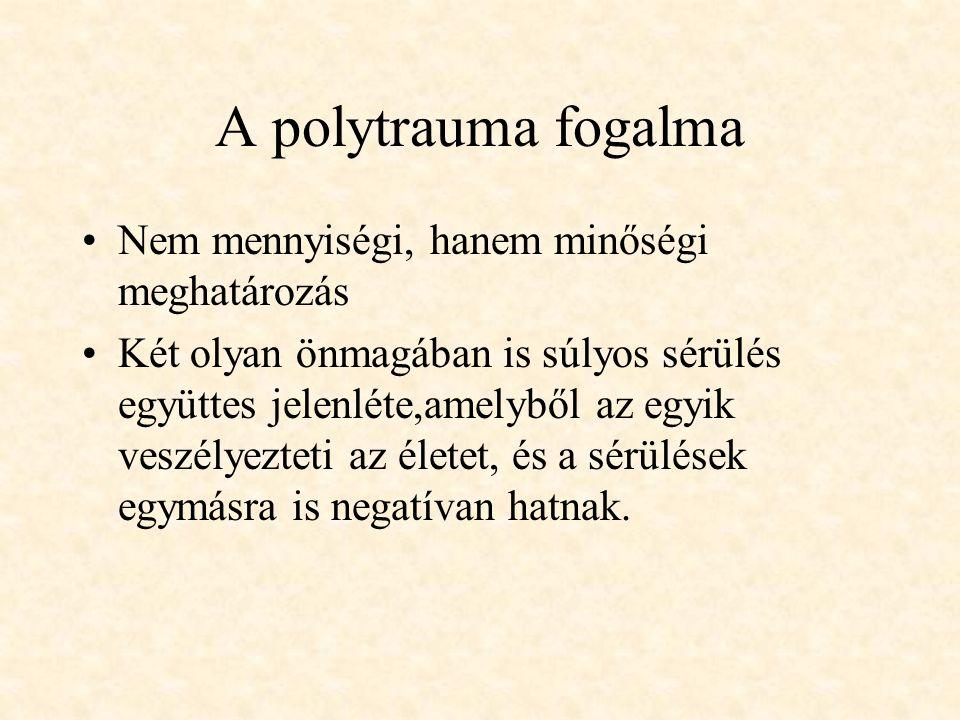 A polytrauma fogalma Nem mennyiségi, hanem minőségi meghatározás