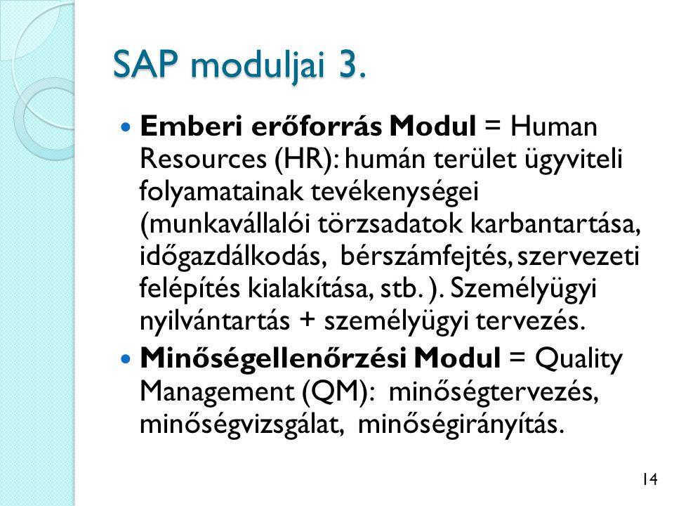 SAP moduljai 3.