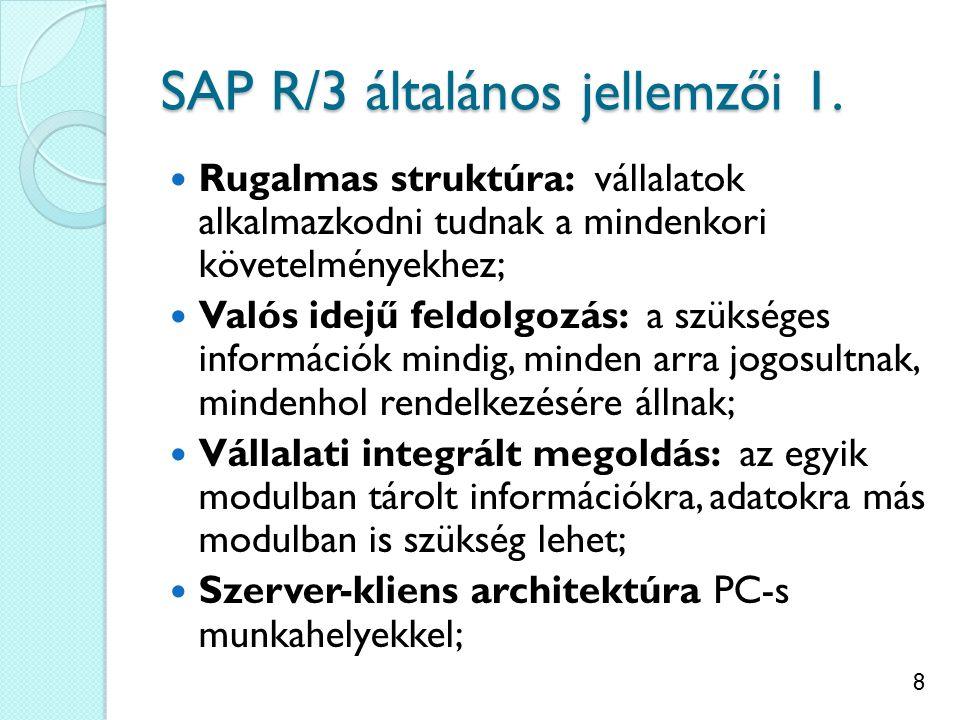SAP R/3 általános jellemzői 1.
