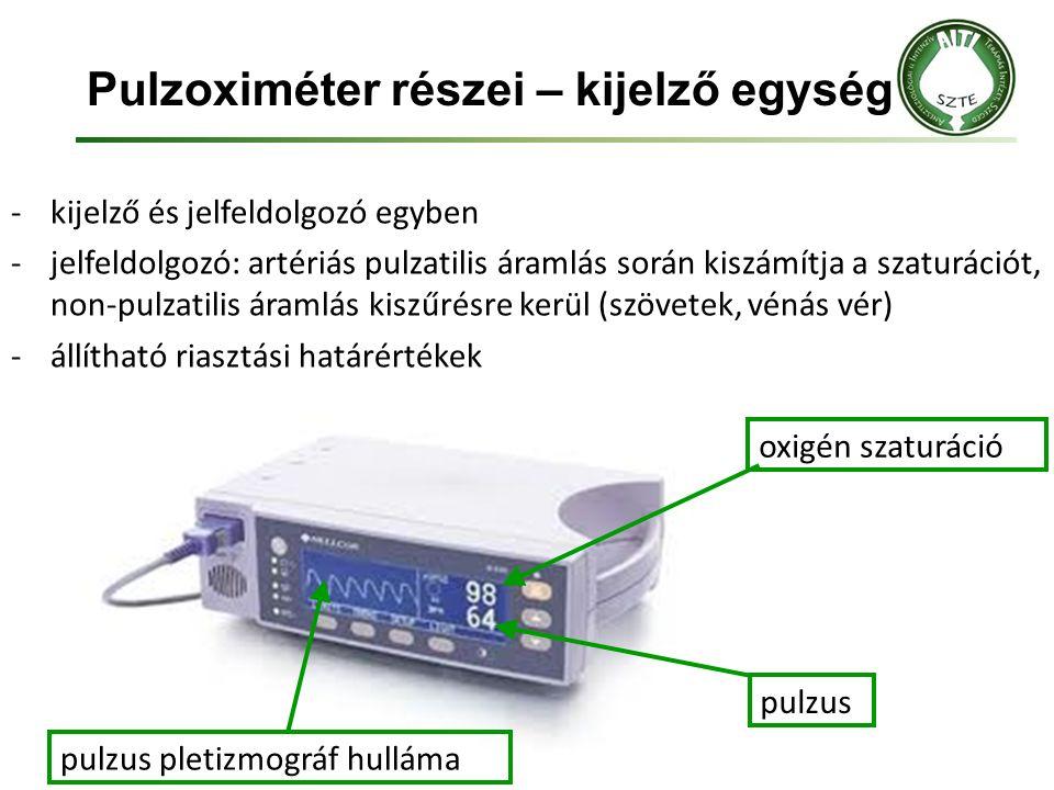 Pulzoximéter részei – kijelző egység