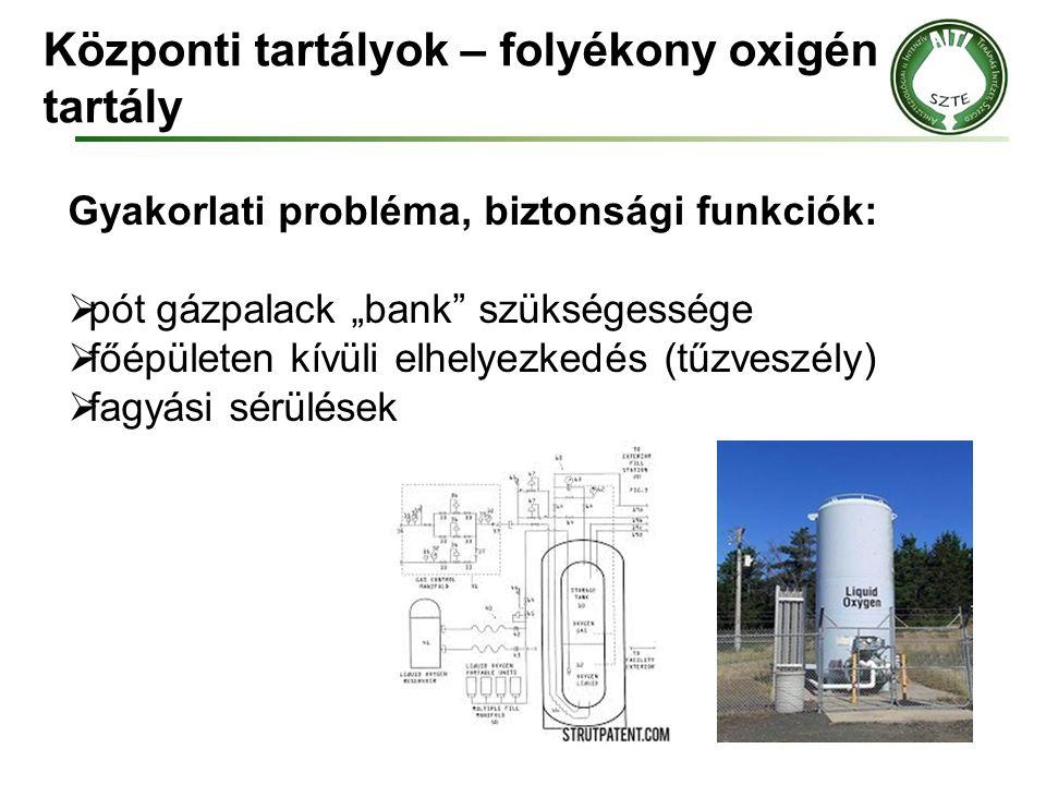 Központi tartályok – folyékony oxigén tartály